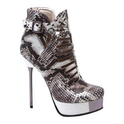 Women's Luichiny Viv Ienne White/Black Snake Imi Leather