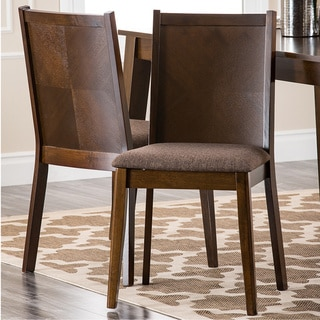 Abbyson Living 'Nova' Cappuccino Dining Chairs (Set of 2)