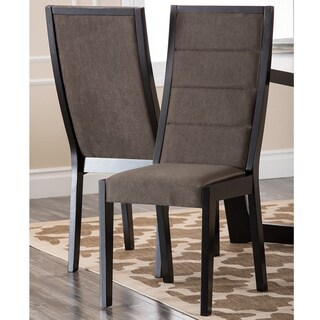 Abbyson Living 'Manning' Espresso Dining Chairs (Set of 2)