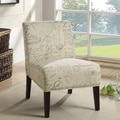 Contemporary Script Plush Oversized Accent Chair