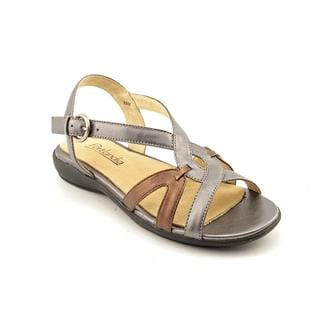 Portlandia Women's 'Tuscany' Leather Sandals - Wide