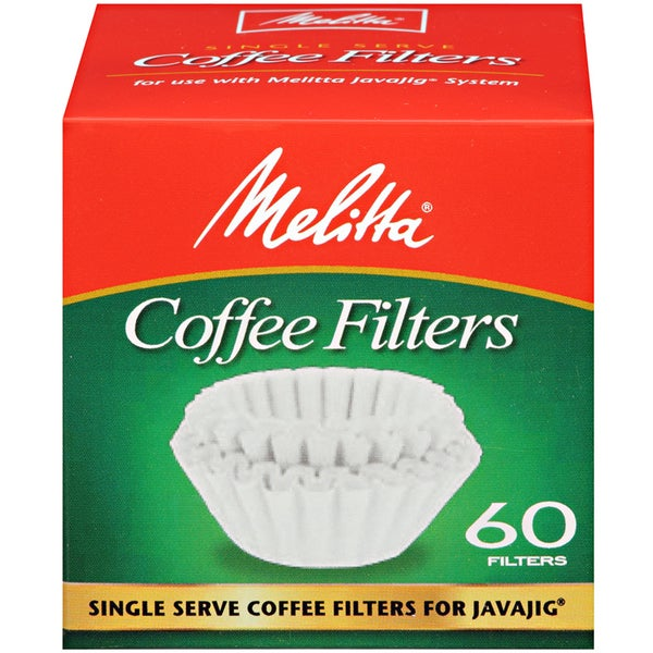 Melitta JavaJig Single Serve 60 Count Paper Coffee Filters 12372818