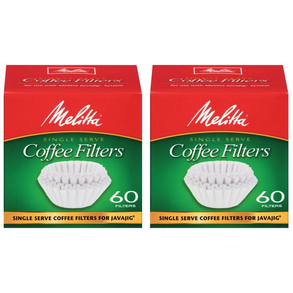 Melitta JavaJig Single Serve Paper Coffee Filters (Pack of 2)