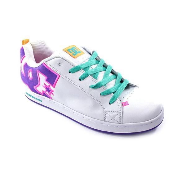 DC Women's 'Court Graffik' Leather Athletic Shoe - Wide (Size 11 )