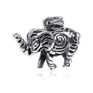 Infinite Swirls Magical Elephant .925 Silver Pendant (Thailand)