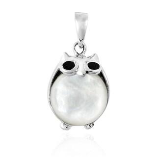 Chubby Night Owls Stone .925 Silver Pendant (Thailand)