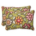 Pillow Perfect Outdoor Wilder Kiwi Over-sized Rectangular Throw Pillow (Set of 2)