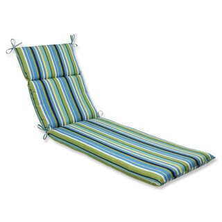 Pillow Perfect Outdoor Topanga Stripe Lagoon Chaise Lounge Cushion
