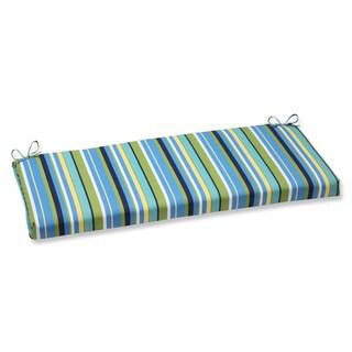 Pillow Perfect Outdoor Topanga Stripe Lagoon Bench Cushion