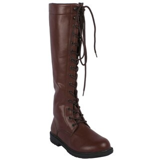 Ellie Women's '151-Karina' Knee-high Lace-up Boots