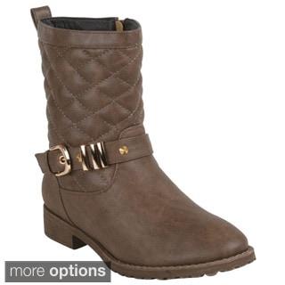 Reneeze Women's 'Gift-02' Quilted Side-zipper Mid-calf Boots