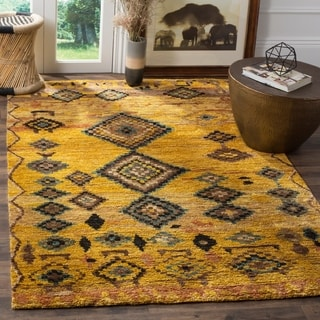 Safavieh Hand-knotted Tangier Gold Wool/ Hemp Rug (8' x 10')