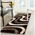 Safavieh Shag Brown/ Beige Rug (2'3 x 9')