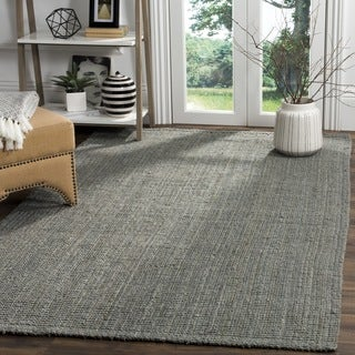 Safavieh Hand-loomed Natural Fiber Grey Jute Rug (5' Square)