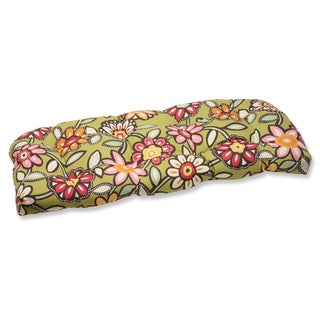 Pillow Perfect Outdoor Wilder Kiwi Wicker Loveseat Cushion