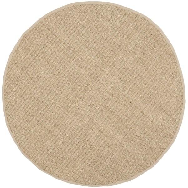 Seagrass Circular Rug: Safavieh Natural Fiber Natural/ Beige Seagrass Rug (6
