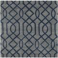 Safavieh Handmade Soho Grey/ Dark Blue New Zealand Wool/ Viscose Rug (6' Square)