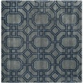 Safavieh Handmade Soho Grey/ Dark Blue New Zealand Wool/ Viscose Rug (6' Square)