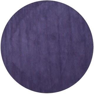 Safavieh Hand-loomed Himalaya Purple Wool Rug (8' Round)