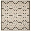 Safavieh Indoor/ Outdoor Courtyard Beige/ Black Rug (7'10 Square)