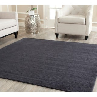 Safavieh Hand-loomed Himalaya Black Wool Rug (8' Square)