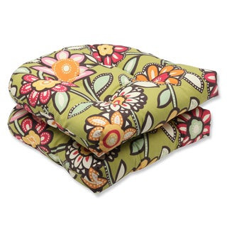 Pillow Perfect Outdoor Wilder Kiwi Wicker Seat Cushion (Set of 2)