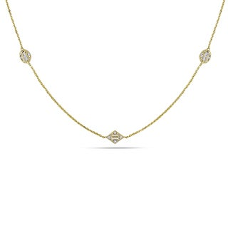 Miadora 14k Yellow Gold 1/3ct TDW Diamond Necklace (G-H, SI1-SI2)