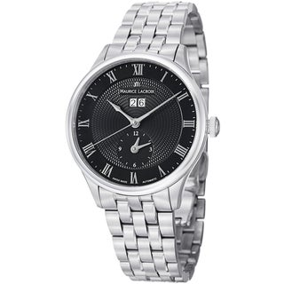 Maurice Lacroix Men's MP6707-SS002-310 'MasterPiece' Black Dial Stainless Steel Watch
