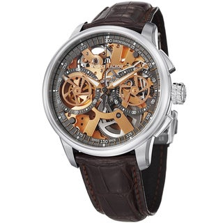 Maurice Lacroix Men's MP7128-SS001-500 'MasterPiece' Gold Skeleton Dial Strap Watch