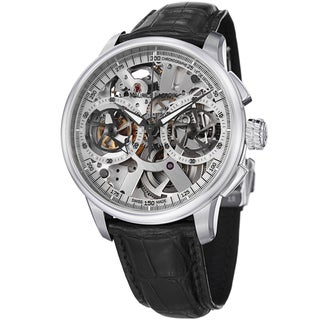 Maurice Lacroix Men's MP7128-SS001-100 'MasterPiece' Skeleton Dial Leather Strap Watch