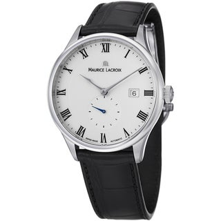 Maurice Lacroix Men's MP6907-SS001-112 'MasterPiece' White Dial Black Strap Watch