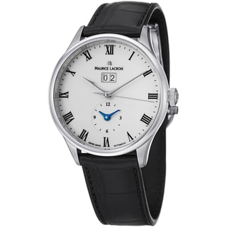 Maurice Lacroix Men's MP6707-SS001-112 'MasterPieceTraditional' White Dial Strap Watch