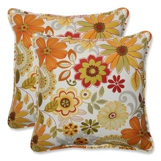 Pillow Perfect Outdoor Gaya Multi 18.5-inch Throw Pillow (Set of 2)
