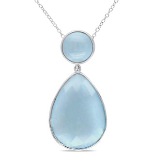 Miadora Sterling Silver Aquamarine Necklace