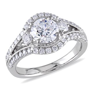 Miadora 18k White Gold 1 2/5ct TDW Certified Diamond Ring (E, SI2)