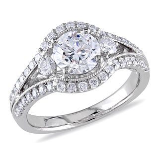 Miadora Signature Collection 18k White Gold 1 2/ 5ct TDW Certified Diamond Ring (E, SI2, GIA)