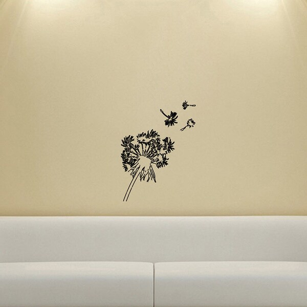 Dandelions in the Wind Wall Vinyl Decal