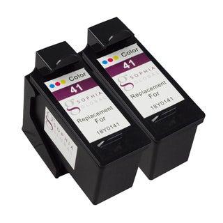 Sophia Global Remanufactured Color Ink Cartridge for Lexmark 41 (Pack of 2)
