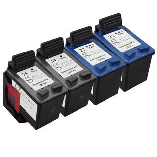 Sophia Global Remanufactured Ink Cartridge Replacement for HP 54 (2 Black, 2 Color)
