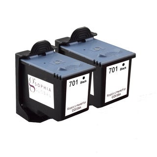 Sophia Global Remanufactured Ink Cartridge Replacement for HP 701 (2 Black)