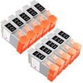 Sophia Global Compatible Ink Cartridge Replacement for Canon BCI-24 (5 Black, 5 Color)
