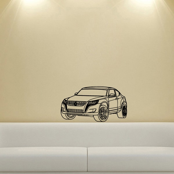 Volkswagen Toureg Wall Vinyl Decal