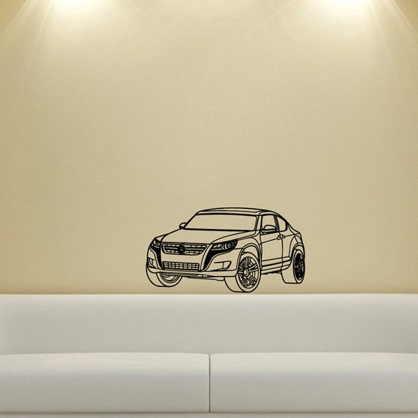 Volkswagen Toureg Wall Vinyl Decal
