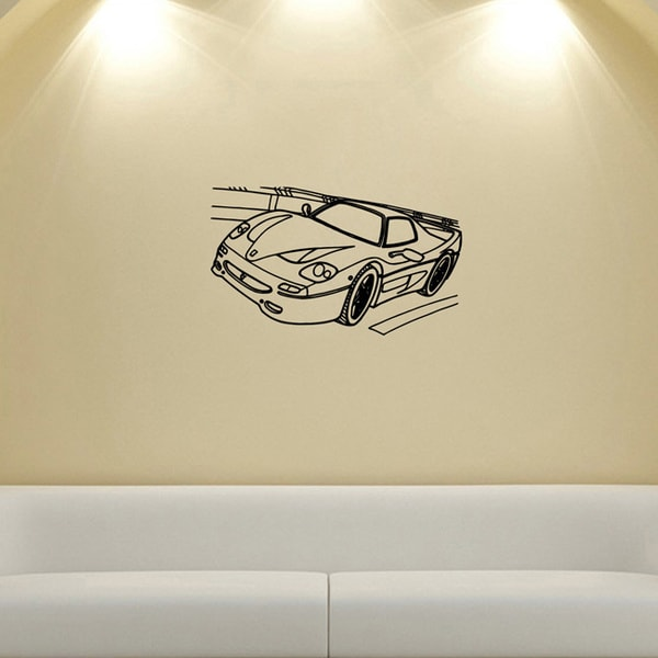 Racing Ferrari Highway Wall Vinyl Decal
