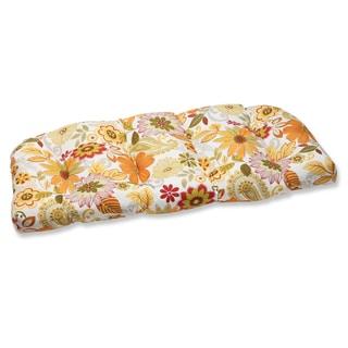 Pillow Perfect Outdoor Gaya Multi Wicker Loveseat Cushion