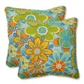 Pillow Perfect Outdoor Glynis Floral 18.5-inch Throw Pillow (Set of 2)