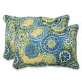 Pillow Perfect Outdoor Omnia Lagoon Over-sized Rectangular Throw Pillow (Set of 2)