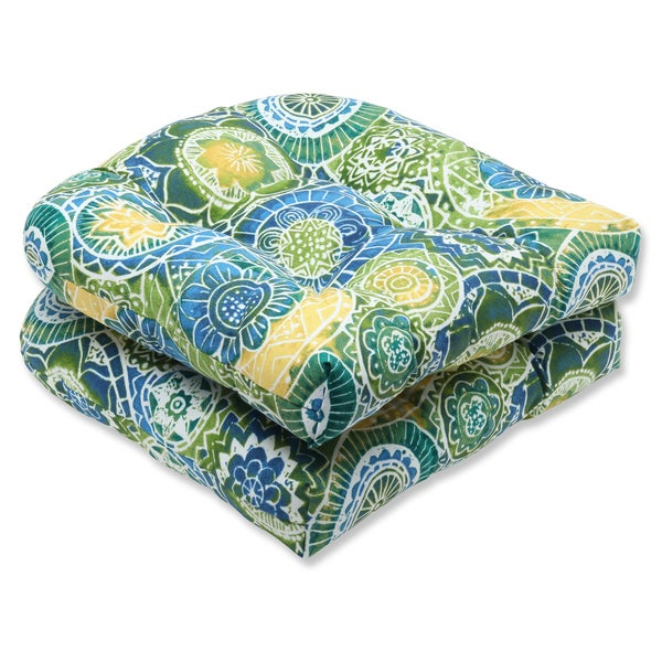Pillow Perfect Outdoor Omnia Lagoon Wicker Seat Cushion