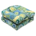 Pillow Perfect Outdoor Omnia Lagoon Wicker Seat Cushion (Set of 2)