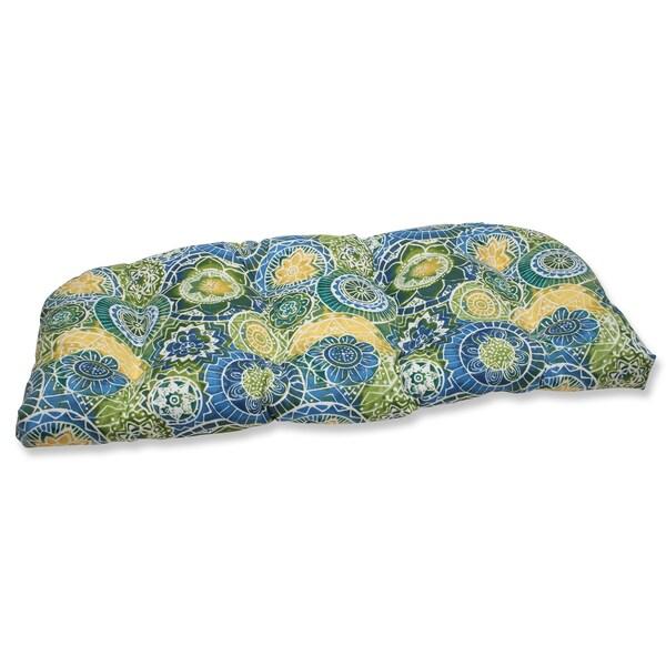 Pillow Perfect Outdoor Omnia Lagoon Wicker Loveseat